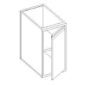 Basi con 1 porta battente e con 1 ripiani - 500x600x850h mm