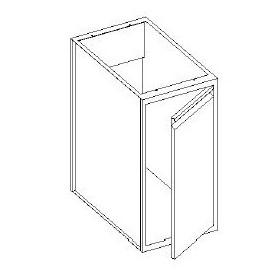 Basi lavello con 1 porta battente - scarichi parete - 600x600x850h mm