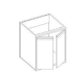 Basi lavello con 2 porte battenti - scarichi parete - 800x600x850h mm