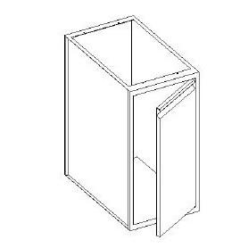 Basi lavello con 1 porta battente - scarichi pedana - 600x600x850h mm