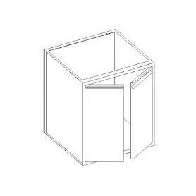 Basi lavello con 2 porte battente - scarichi pedana - 800x700x850h mm