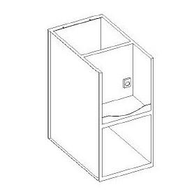 Base lavello / vasca a giorno - portablender interno - scarichi a parete - presa 230V- 600x700x850h mm