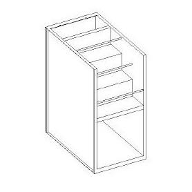 Base gradinata portabottiglie - scarichi a parete - 600x700x850h mm