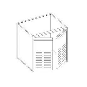 Base vano tecnico - porta forate - senza fondo - 800x600x850h mm