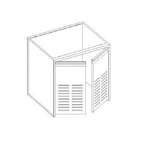 Base vano tecnico - porta forate - senza fondo - 1200x600x850h mm