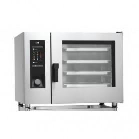 Forno Misto Convezione / Vapore per Gastronomia - GAS - 6 GN 1/2 - Con Lavaggio Automatico e Iniezione Diretta