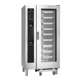 Forno Misto Convezione / Vapore per Gastronomia - GAS - 20 GN 1/1 - Con Lavaggio Automatico e Iniezione Diretta
