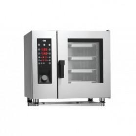 Forno Misto Convezione / Vapore per Gastronomia - GAS - Programmabile - 6 GN 1/1 - Con Boiler e Lavaggio Automatico