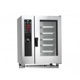 Forno Misto Convezione / Vapore per Gastronomia - GAS - Programmabile - 10 GN 1/1 - Con Boiler e Lavaggio Automatico
