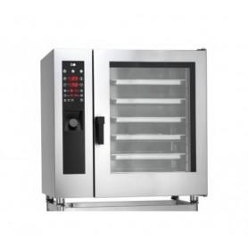 Forno Misto Convezione / Vapore per Gastronomia - GAS - Programmabile - 10 GN 2/1 - Con Boiler e Lavaggio Automatico
