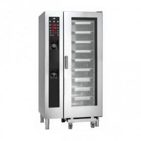Forno Misto Convezione / Vapore per Gastronomia - GAS - Programmabile - 20 GN 1/1 - Con Boiler e Lavaggio Automatico