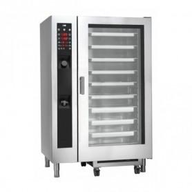 Forno Misto Convezione / Vapore per Gastronomia - GAS - Programmabile - 20 GN 2/1 - Con Boiler e Lavaggio Automatico