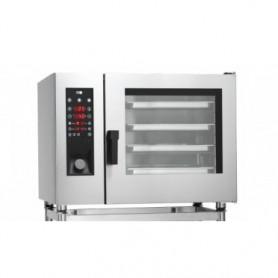 Forno Misto Convezione / Vapore per Gastronomia - Programmabile - 6 GN 2/1 - Con Vapore Diretto e Lavaggio Automatico