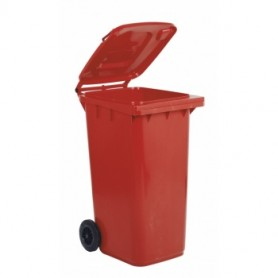 Bidone Carrellato - 240 Litri - Rosso