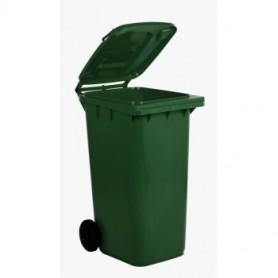 Bidone Carrellato - 240 Litri - Verde Scuro