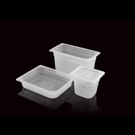 Bacinella in Plastica Trasparente - GN 1/6 - Altezza 150 mm