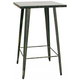Tavolo da Interno - L65 x P65 x H107 cm - Struttura in metallo verniciato effetto anticato