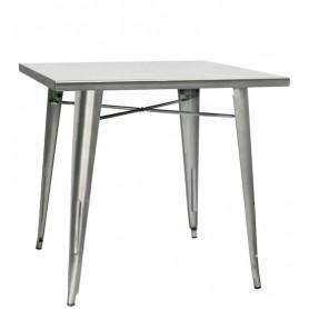 Tavolo da Interno - L80 x P80 x H76 cm - Struttura in metallo verniciato con vernice trasparente
