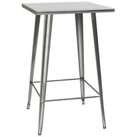 Tavolo da Interno - L65 x P65 x H107 cm - Struttura in metallo verniciato con vernice trasparente