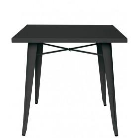 Tavolo da Interno - L80 x P80 x H74 cm - Struttura in metallo verniciato