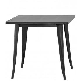 Tavolo da Interno - L80 x P80 x H75 cm - Struttura in metallo verniciato, effetto anticato.