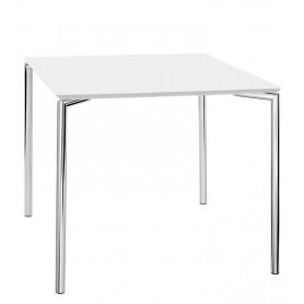 Tavolo da Interno - L120 x P80 x H76 cm - Struttura in metallo cromato, piano in MDF