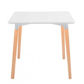 Tavolo da Interno - 80 x 80 x H74 cm - Struttura in legno e acciaio, piano in MDF laccato