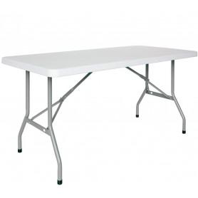 Tavolo da Interno - 152 x 76 x H74 - Struttura pieghevole in metallo verniciato, piano pieghevole in polietilene