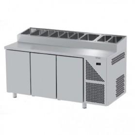 Saladette Refrigerate per Pizzeria GN 1/1 - 3 Porte - Profondità 700mm