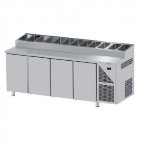 Saladette Refrigerate per Pizzeria GN 1/1 - 4 Porte - Profondità 700mm