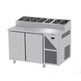 Tavoli Snack Refrigerati GN 1/1 - 2 Porte - Profondità 700mm - Motore Remoto