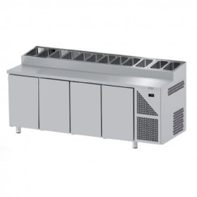 Tavoli Snack Refrigerati GN 1/1 - 4 Porte - Profondità 700mm - Motore Remoto