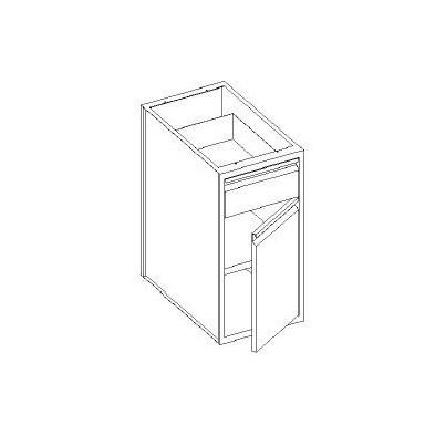 Basi con cassetto 1/4 - porta battente e con 1 ripiano