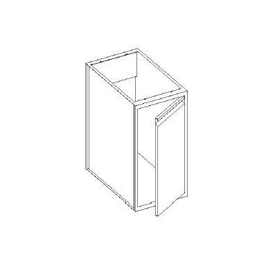 Basi lavello con 1 porta battente - scarichi parete