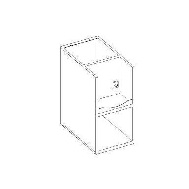 Basi lavello / vasca a giorno - portablender interno - scarichi a parete - presa 230V