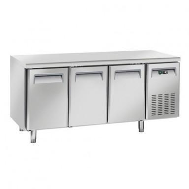 Tavoli Refrigerati INOX - MOTORE REMOTO - Positivi - Profondità 70 - Tropicalizzati Senza Alzatina