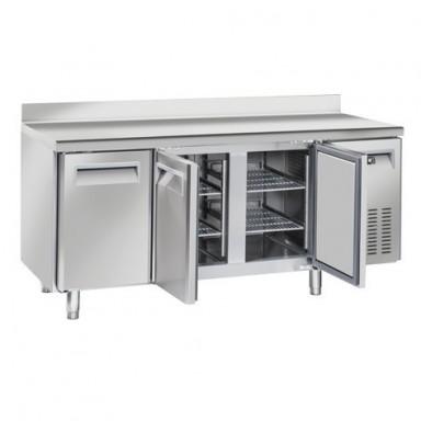 Tavoli Refrigerati INOX - MOTORE REMOTO - Positivi - Profondità 70 - Tropicalizzati con Alzatina