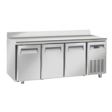 Tavoli Refrigerati INOX - Positivi - Profondità 80 - con Alzatina