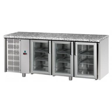 Tavoli Refrigerati in acciaio INOX - Profondità 70 - Piano in Granito