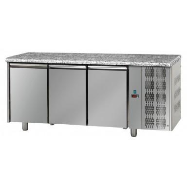 Tavoli Refrigerati - Piano di Lavoro in Granito - 3 Porte