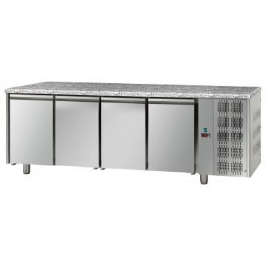 Tavoli Refrigerati - Piano di Lavoro in Granito - 4 Porte